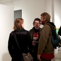 discussing art gallery show minneapolis