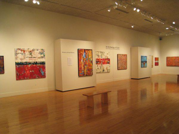 contemporary abstract art gallery exhibit acrylic oil encaustic