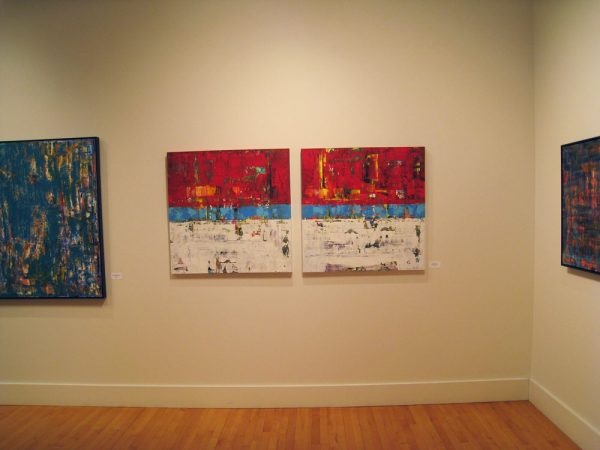 shawn mcnulty red diptych art exhibit gallery