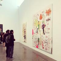 kids art students basquiat show gagosian