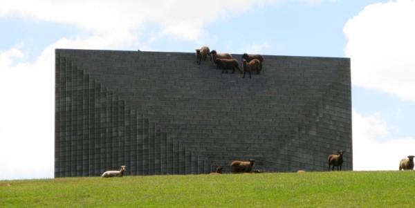 sol dewitt sculpture sheep gibbs farm
