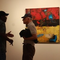 two men discussion art minneapolis
