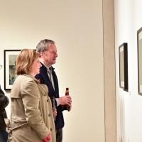 People Looking Art Gallery Exhibit