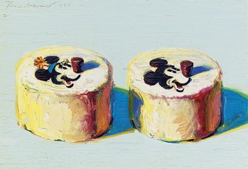 Wayne Thiebaud Mickey Minnie Mouse Cakes
