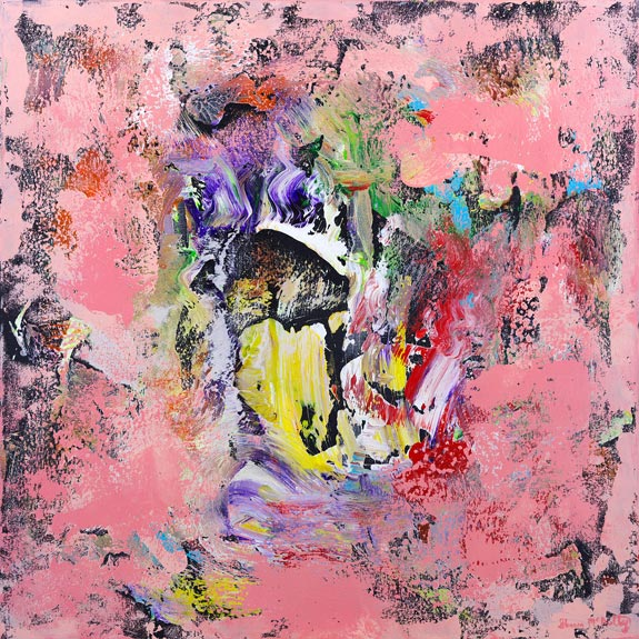 Pink Modern Art Painting Abstract Artery