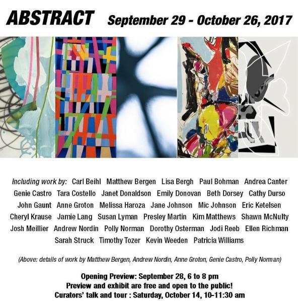 Abstract Art Show Minnetonka Art Center Mn