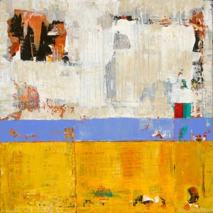 Amenity Bright Yellow Abstract Painting
