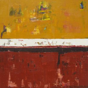 Bedford Brown Yellow Abstraction Painting