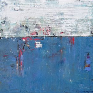 Blue Rodeo Blue White Modern Painting