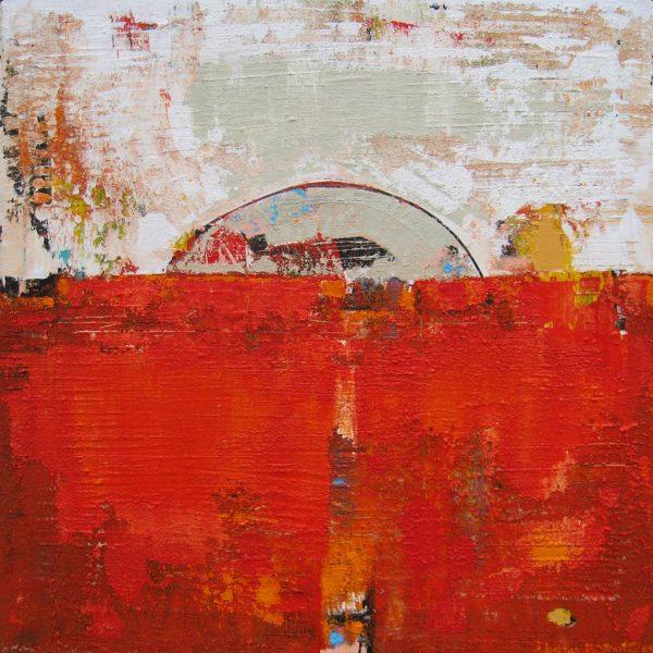 Europa Moon Orange Abstract Painting