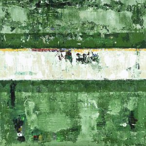 Leeway Forest Green Abstract Painting