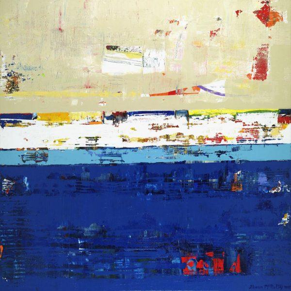 Moniker Prussian Blue Abstract Art