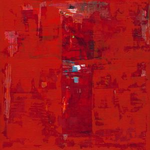 Solomon Red Abstract Art Painting