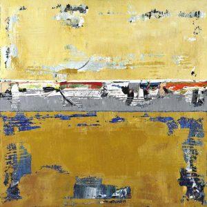 Tupelo Ochre Yellow Abstract