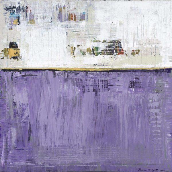 Turk Purple Yellow Abstract Painting