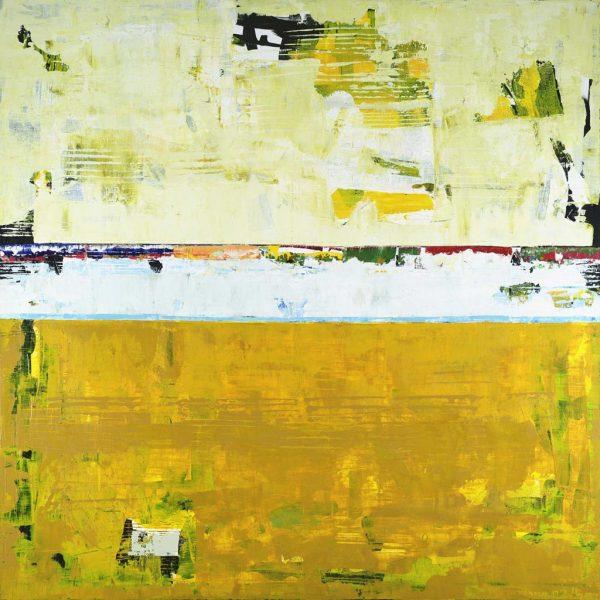 Turmeric Light And Dark Yellow Modern Art
