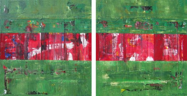 Wheeler Green Red Abstract Complementary Colors