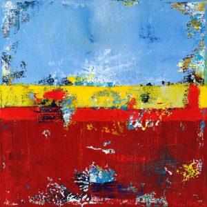 Deerfield Beach Red Yellow Blue Contemporary Art