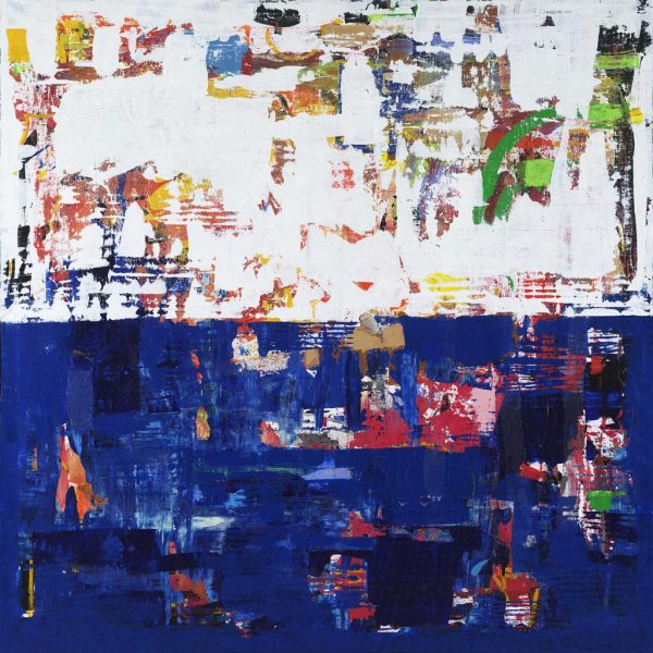 Myth Creativity Sisyphus Blue Abstract Painting