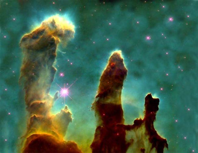 Pillars Of Creation Raw Photo