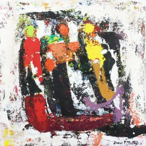 Three Musketeers Abstract Figurative Painting