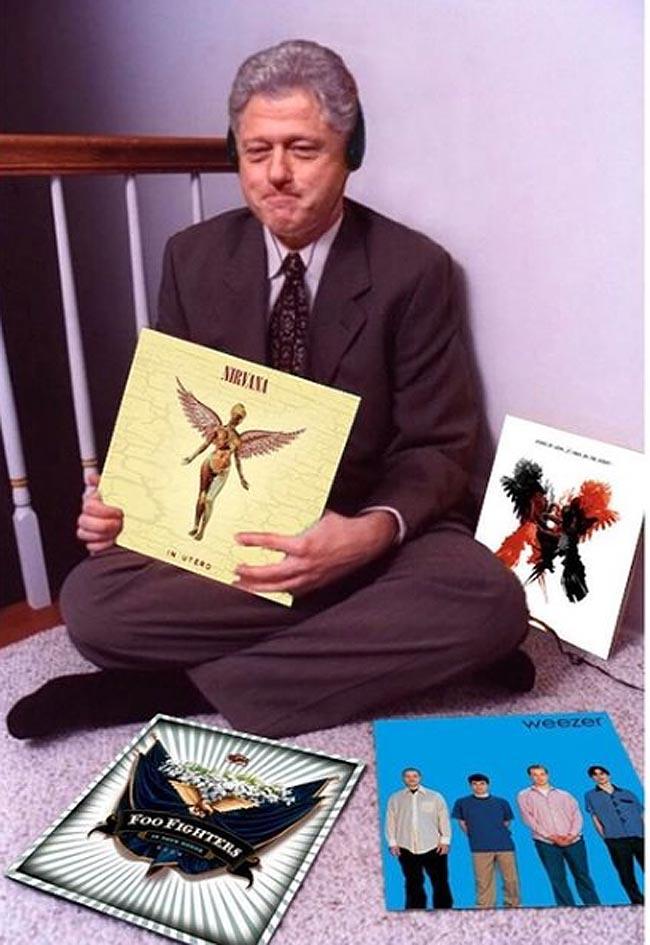 Bill Clinton Album Meme Nirvana